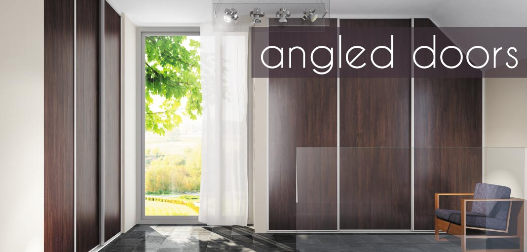 It\u0027s time to take advantage of unique spaces in your home with efficiently designed angled doors. There are no standard size restrictions; so we can build ... & Angled Doors | Fusion Robes Belfast - Amazing Sliding Wardrobes Pezcame.Com
