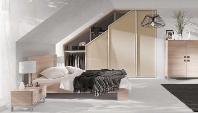 Bedroom with angled door & Angled Doors | Fusion Robes Belfast - Amazing Sliding Wardrobes