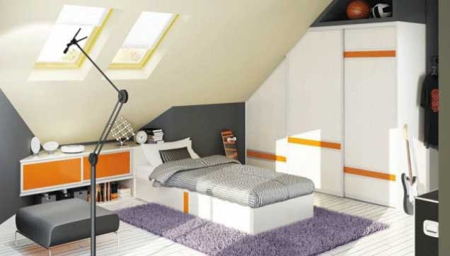 Angled-door-loft-conversion & Angled Doors | Fusion Robes Belfast - Amazing Sliding Wardrobes