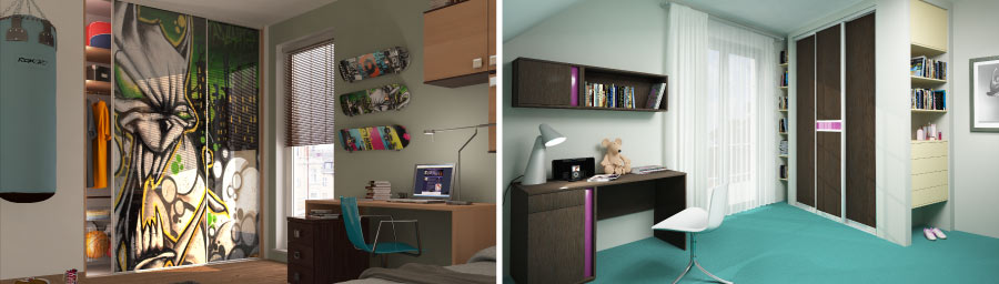 Wardrobes and rooms for older children